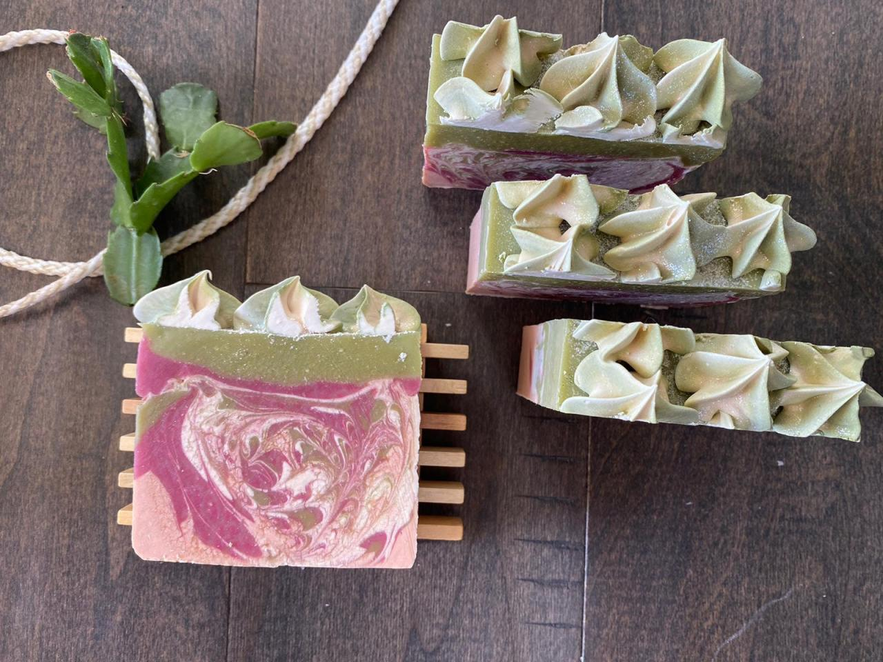Handmade Natural Soap, Sensuous Love with FROSTING handcrafted soap!!! with bonus gifts