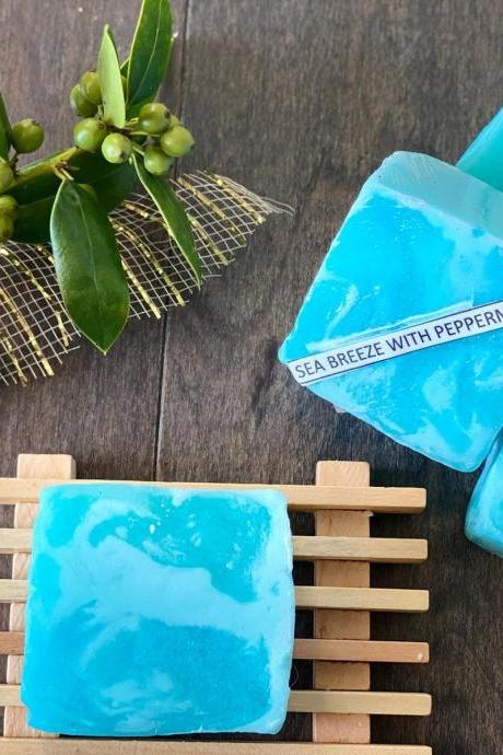 Natural Handmade Soap Blue Ocean breeze soap